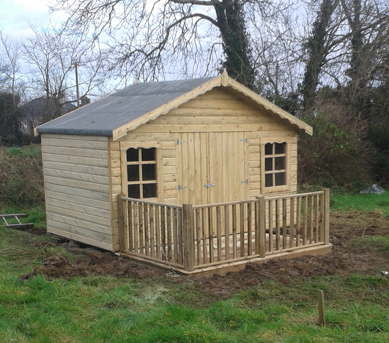 12 10x12 tg tan shed with custom windows - Garden Sheds With Windows