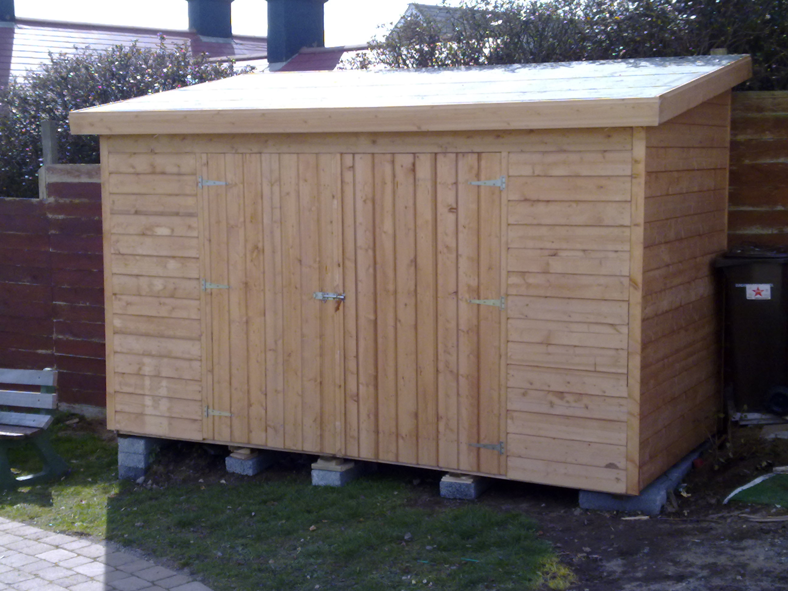 28 6x12 tongue and groove shed high rear side - Garden Sheds 6 X 12