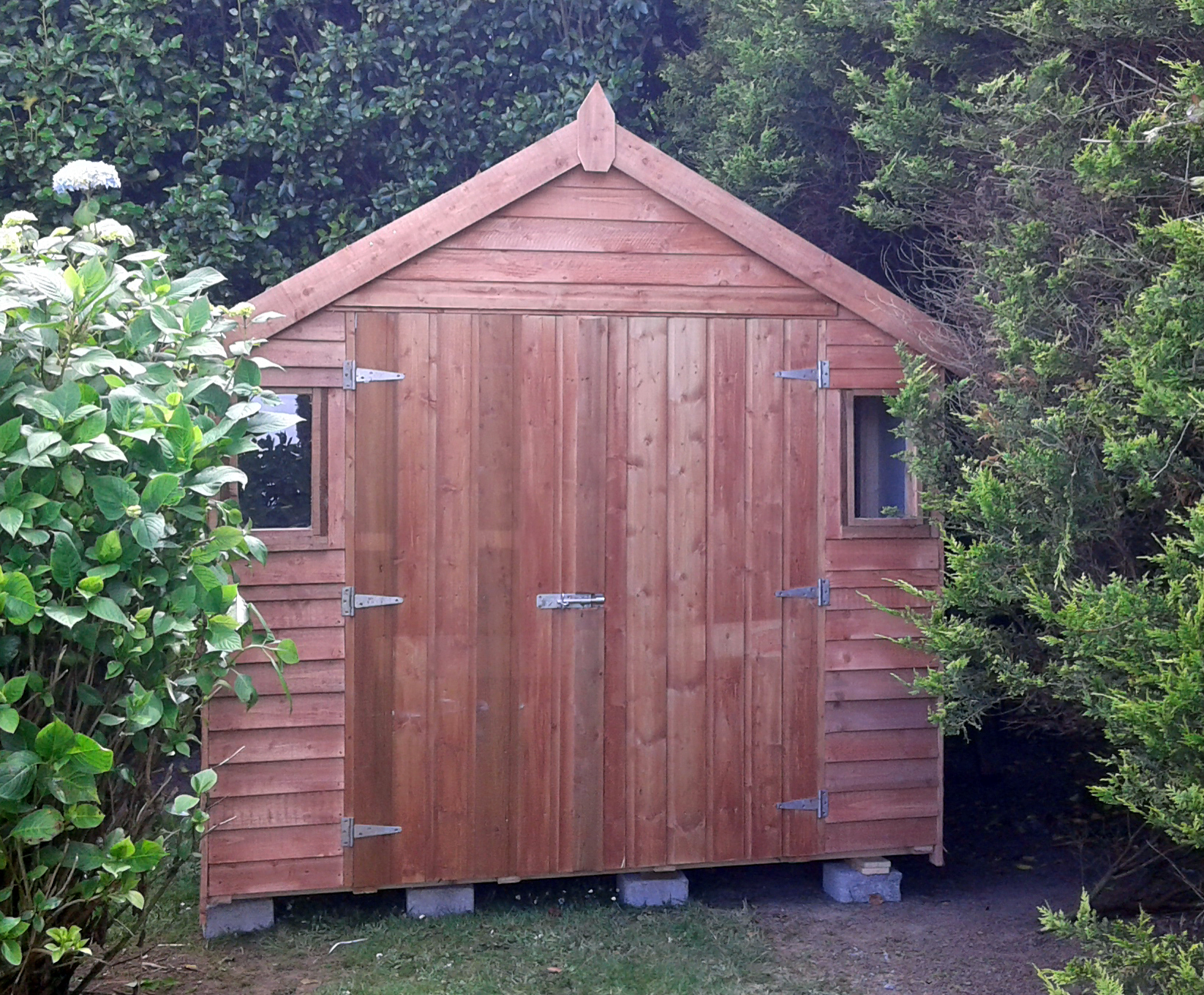34 10x8 Rustic Shed Double Doors