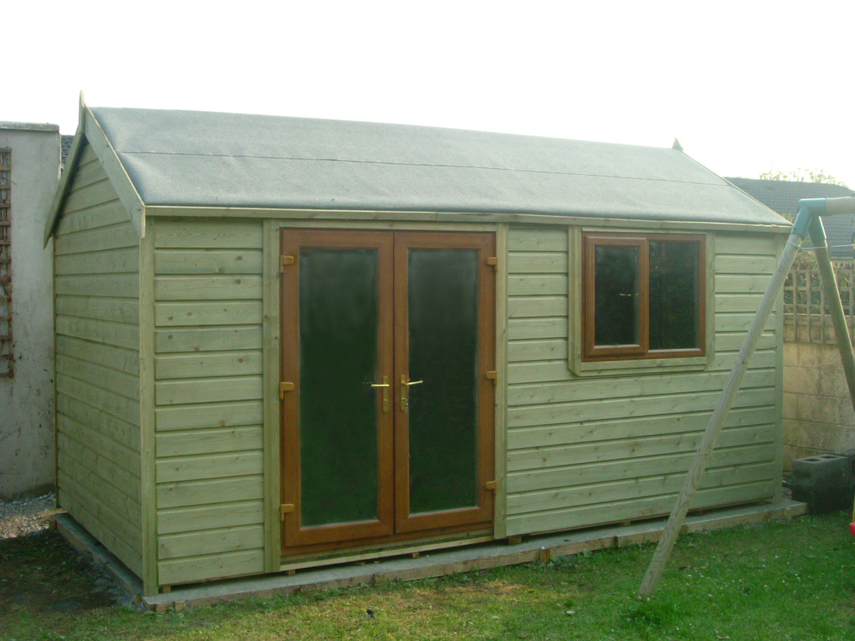 Garden sheds ireland dublin wicklow wexford sheds for Shed styles