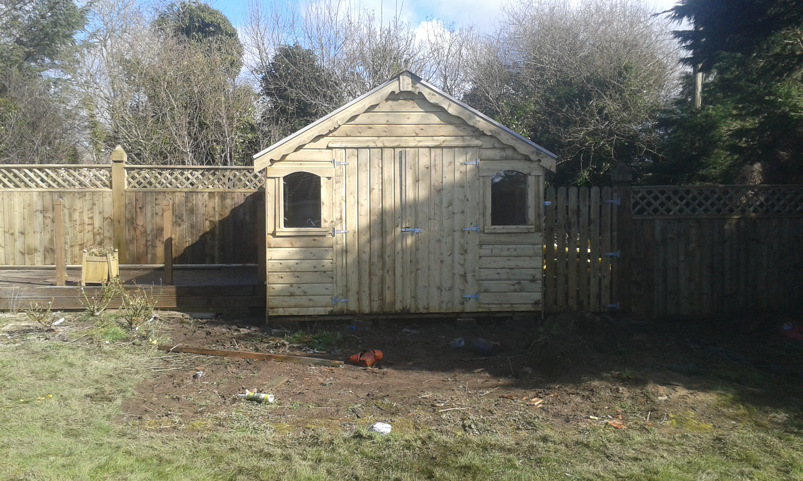 Decking sheds and wendy houses quotes for Garden shed kilkenny