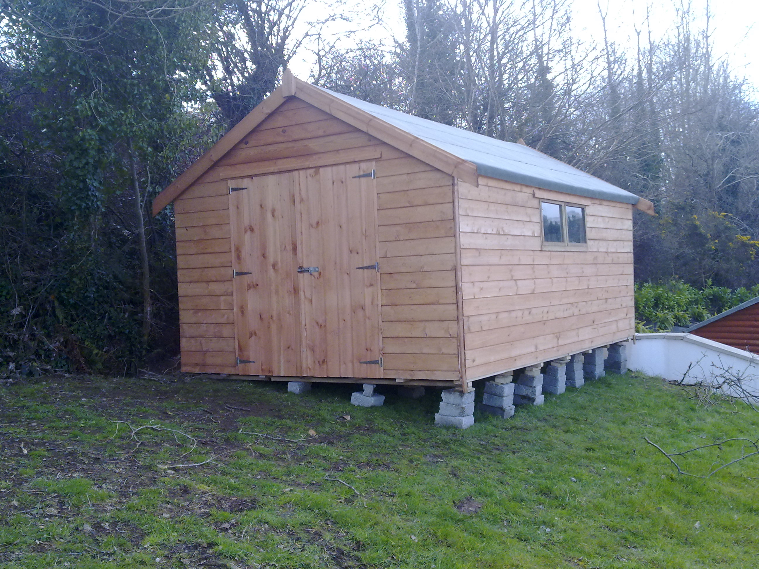 Garden sheds ireland dublin wicklow wexford sheds for Garden sheds built on site