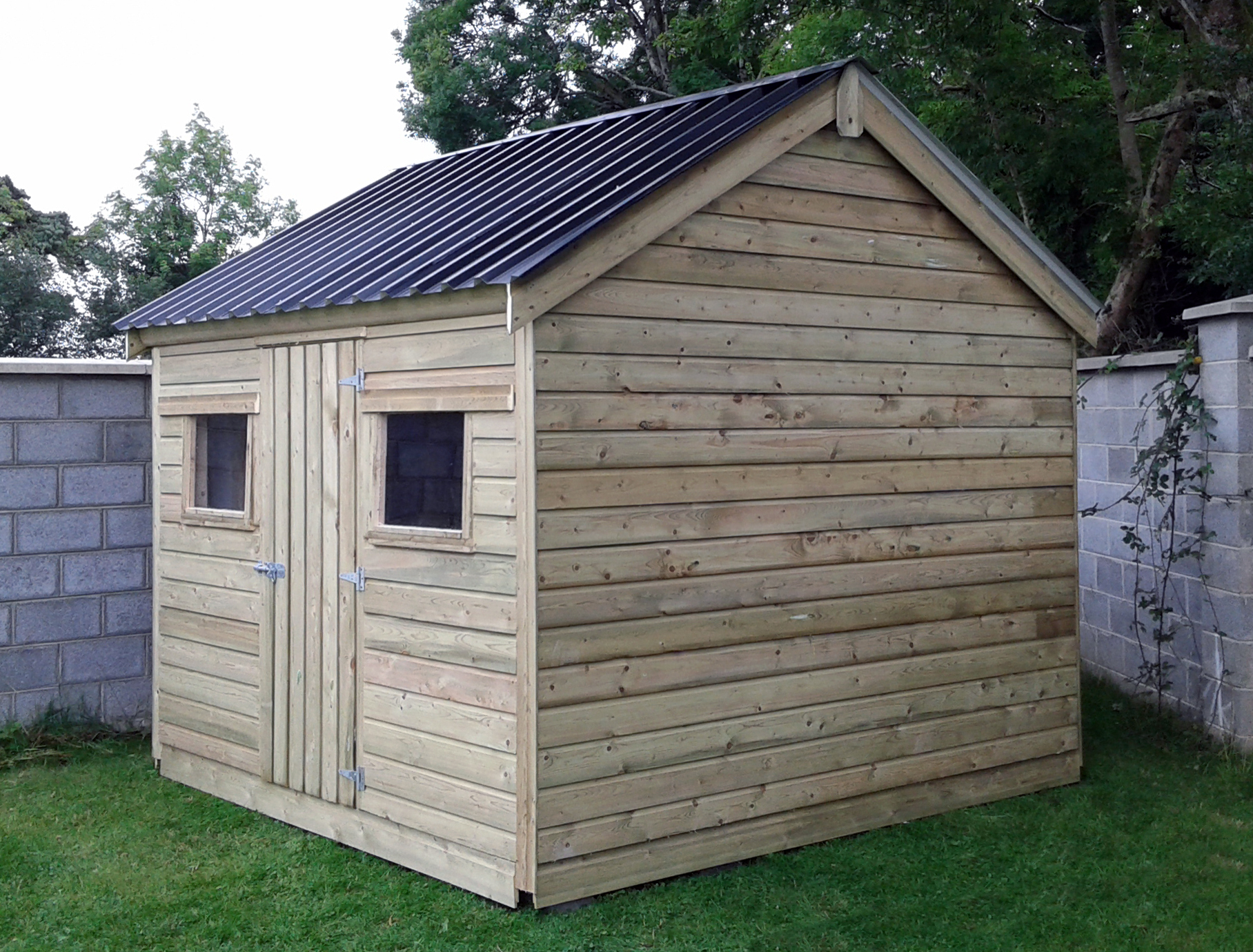 Garden sheds ireland dublin wicklow wexford sheds for T g roofing