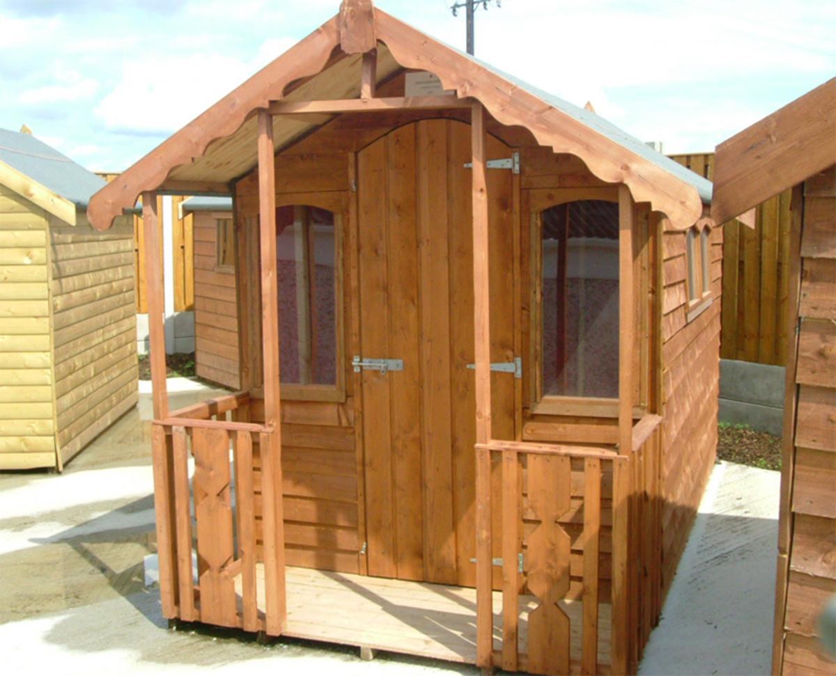 verandah sheds summerhouses - Garden Sheds With Veranda