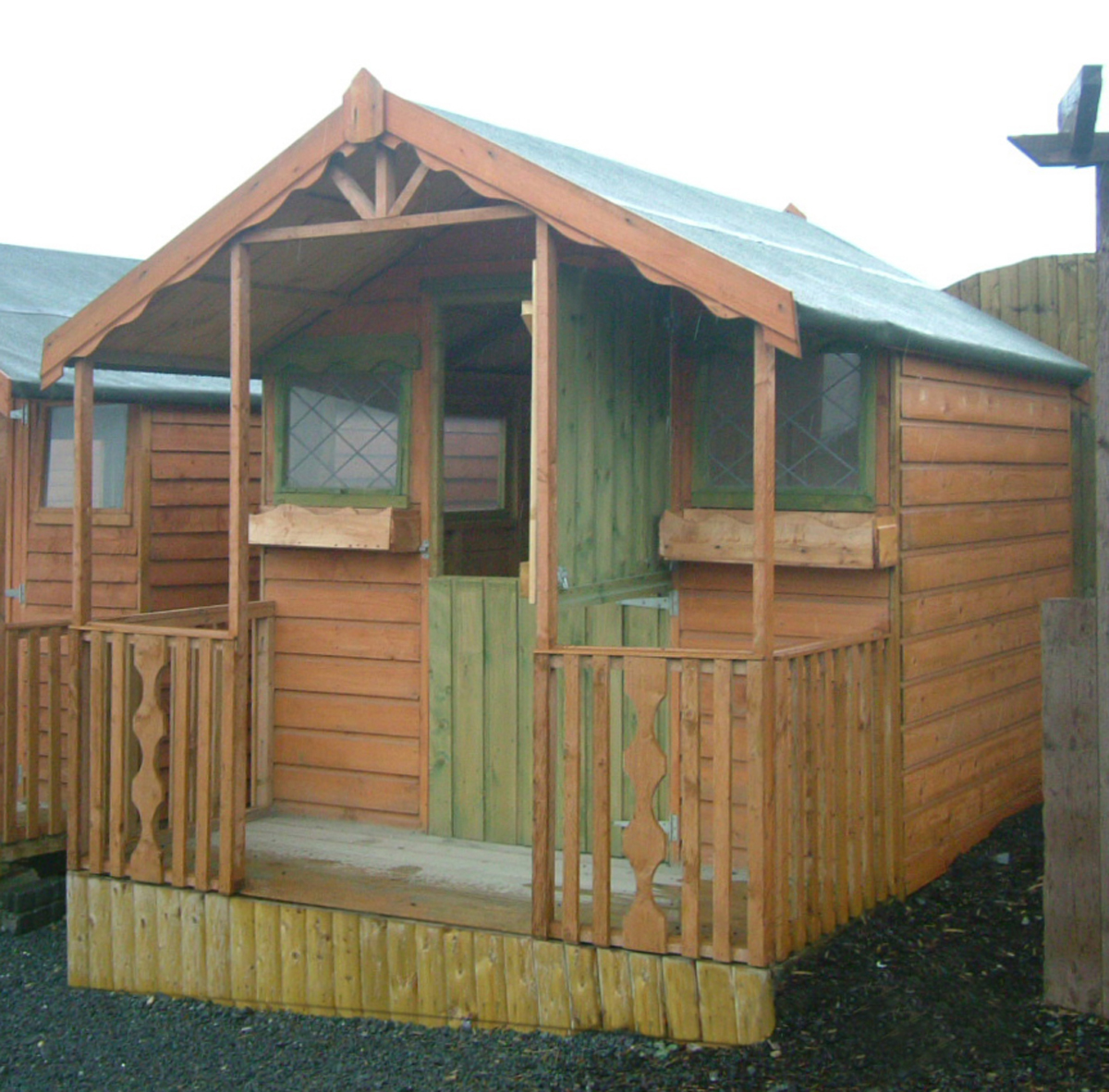 ... 06 10x8 Tongue And Groove Verandah Shed ...
