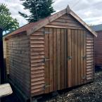 23 8x8 Rustic Shed with double door