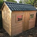 24 10x6 Barrelboard Cottage Style Shed tile effect steel roof