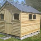 19 10x8 T&G Tan Shed with metal roof & half door