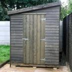 35 8x6 Rustic Shed Lean to Roof Black